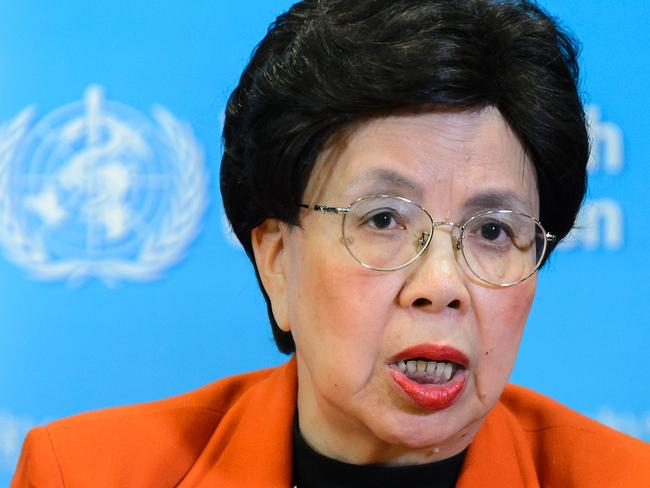 WHO Director-General Margaret Chan said an international co-ordinated response was needed. Picture: Fabrice Coffrini/AFP