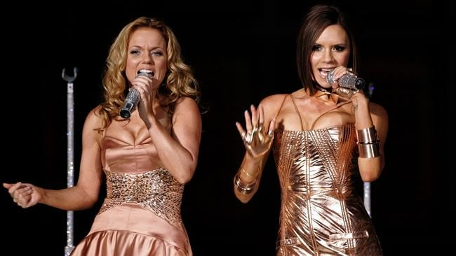 Robbie Williams says he now regrets his recent comments suggesting he should have dated Spice Girl Victoria Beckham not Geri Halliwell. Picture: AP