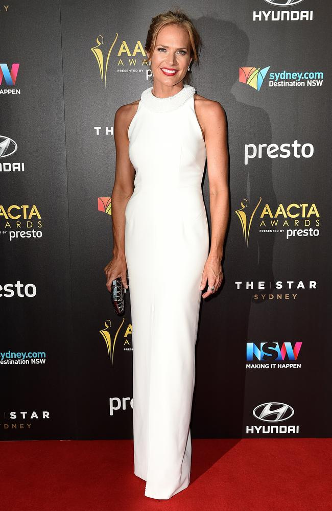 Erin Connor arrives ahead of the 5th AACTA Awards Presented by Presto at The Star on December 9, 2015 in Sydney, Australia. Picture: AAP
