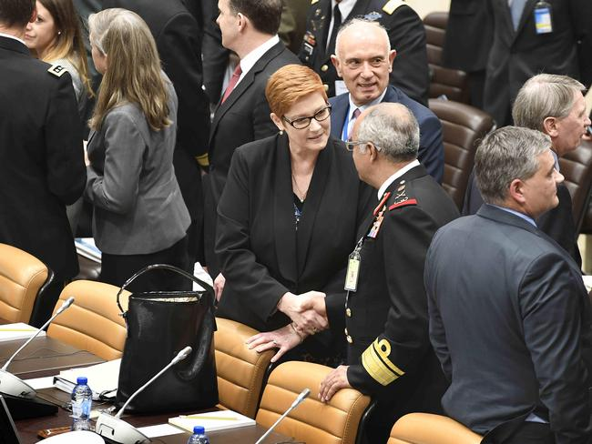 Australian Minister for Defense Marise Payne is in Brussels for high-level talks at NATO headquarters. Picture: Supplied