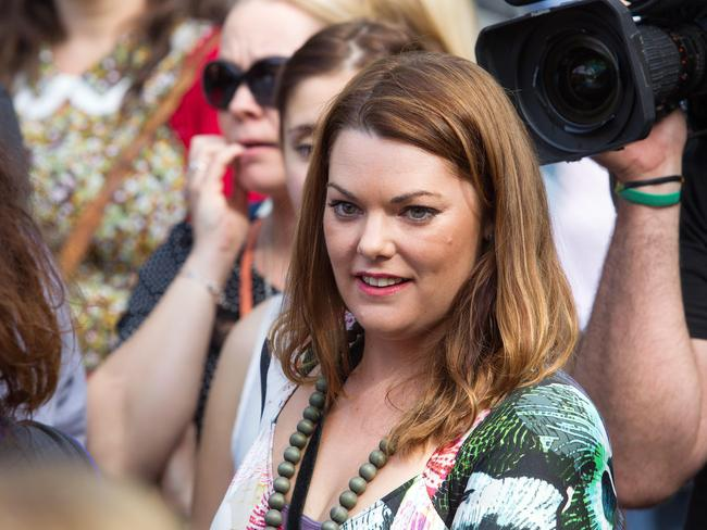 "Greens Senator Sarah Hanson-Young branded Mr Abbott's wink ""creepy"". Picture: Sarah Matray"