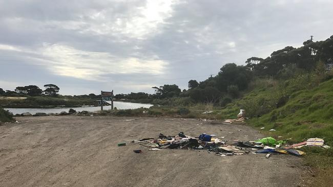 The latest in a spate of illegal dumping on the Onkaparinga River.