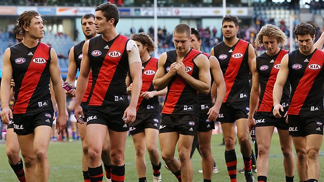 Advice ... Essendon players could walk out on the club.