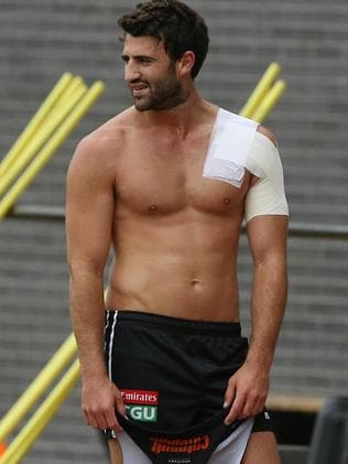 Alex Fasolo after completing his run. Picture: Wayne Ludbey