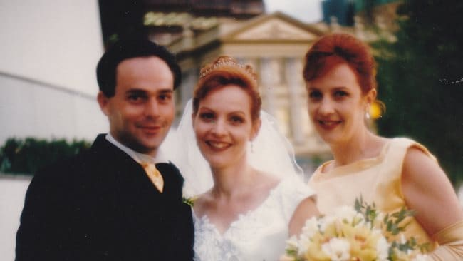 Allison Baden Clay, nee Dickie, with her siblings on her wedding day to Gerard Baden-Clay
