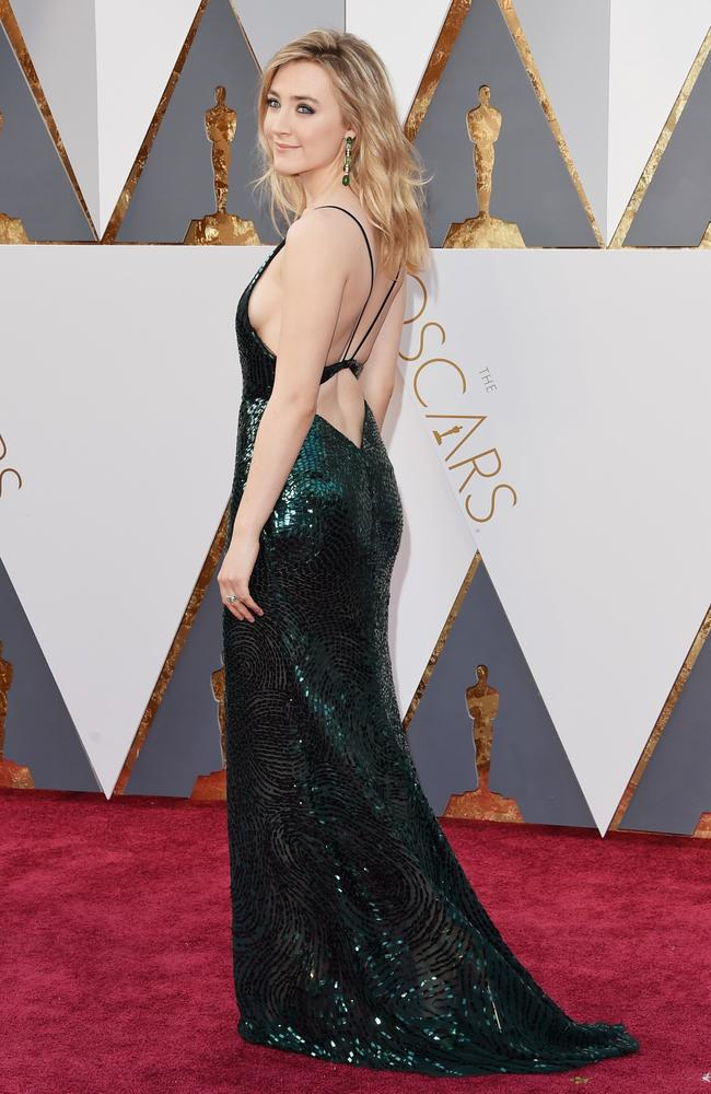 Saoirse Ronan attends the 88th Annual Academy Awards on February 28, 2016 in Hollywood, California. Picture: AFP