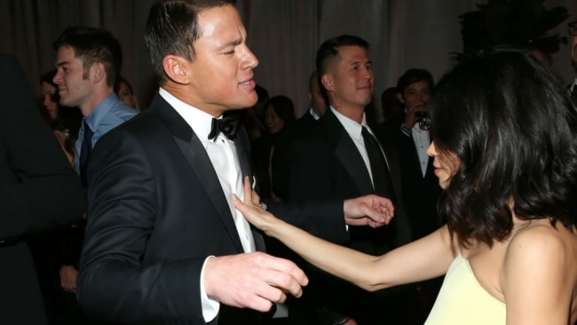 Channing and Jenna on the dance floor. Photo: Getty