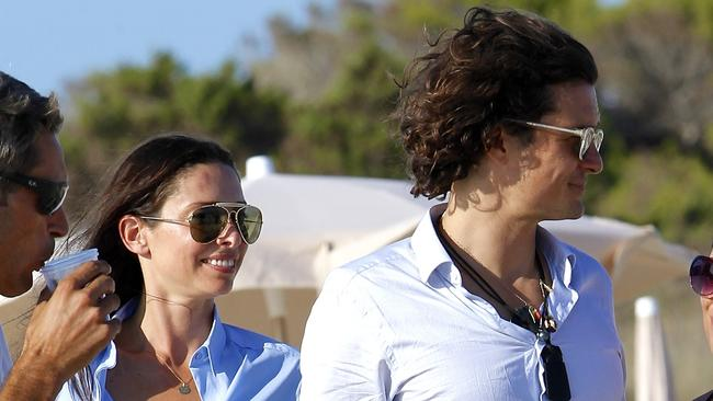 Orlando Bloom seen in Formentera with Erica Packer.