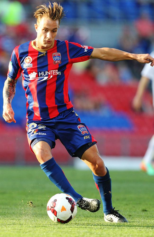 Adam Taggart had a great season with the Newcastle Jets.
