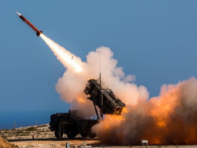 A Patriot weapons system is fired at a NATO test facility. Reports indicate five of them failed to intercept an incoming Scud missile. Picture: US Defence Department