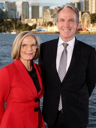 Lucy Turnbull with Daily Telegraph editor Christopher Dore at the 2016 Bradfield Oration. Picture: Jonathan Ng