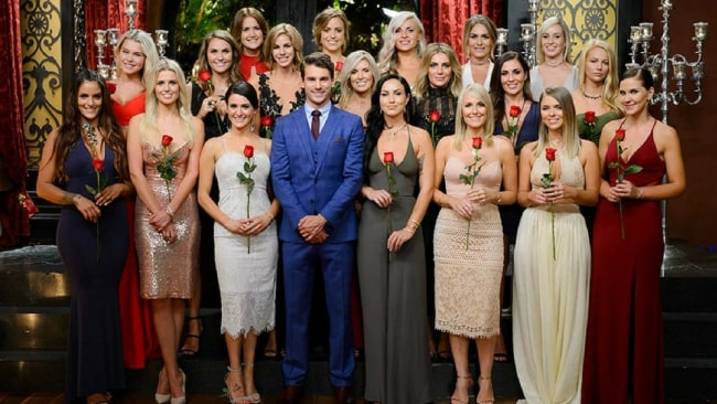Matty and his remaining women. Photo: Channel 10