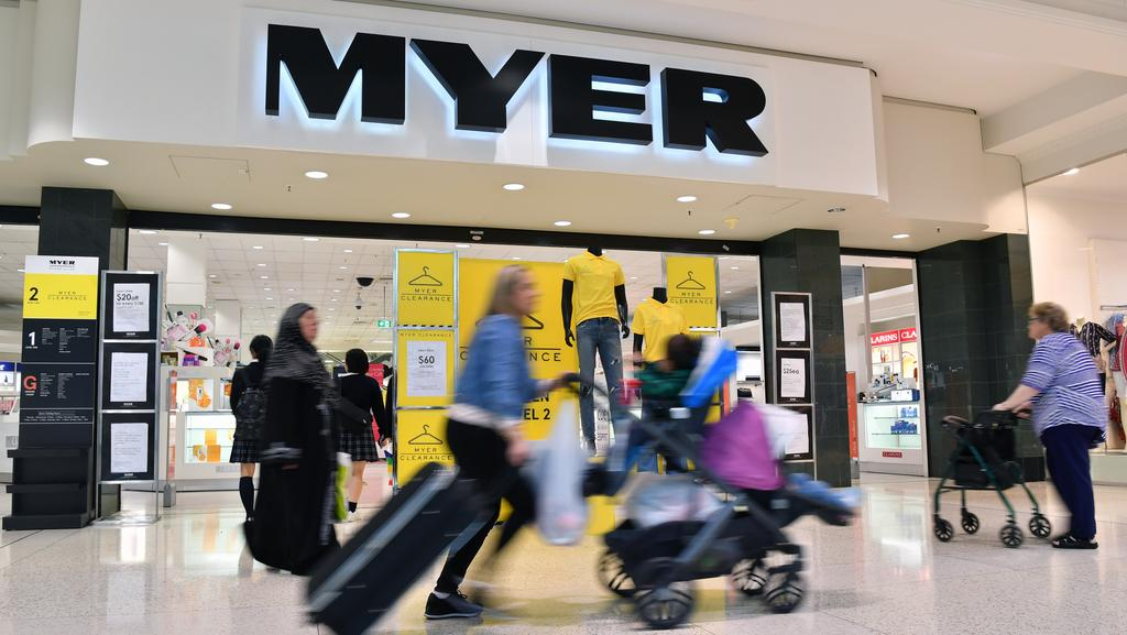 Myer at Centro Roselands in Sydney. Picture: Joel Carrett/AAP