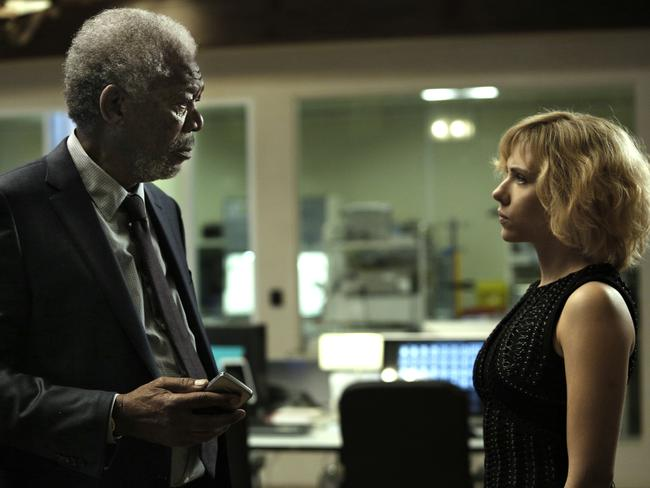 Can Morgan Freeman's brain expert get to grips with Lucy's fast-growing powers?
