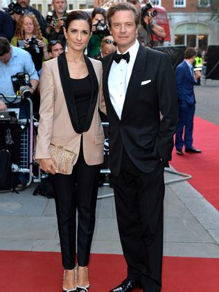 Colin Firth and Livia Firth attend the GQ Men of the Year awards.