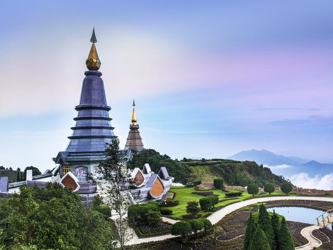 Doi Inthanon, Chiang Mai, the highest mountain in Thailand.