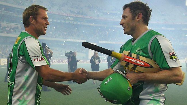 David Hussey (right) says Shane Warne took his criticism on the chin.