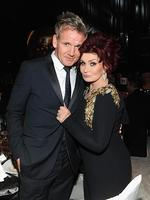 Chef Gordon Ramsay and Sharon Osbourne attend the 22nd Annual Elton John AIDS Foundation Academy Awards Viewing Party. Picture: Getty