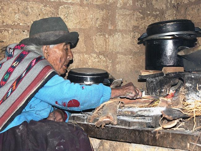 Simple life ... Filomena Taipe Mendoza heads the list of 400 senior Peruvians aged more than 100 years.