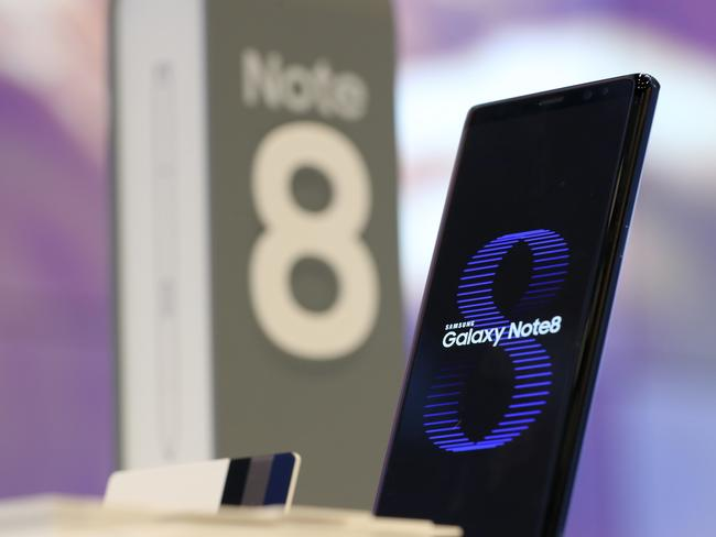 Samsung Electronics' Galaxy Note 8 has biometric technology. Picture: AP