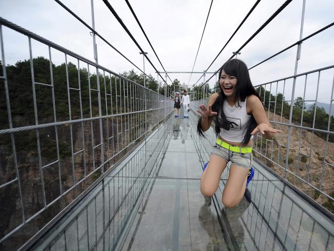 Don't look down. Picture: Chinatopix Via AP/CHINA OUT
