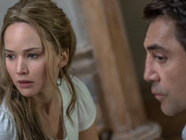 Lawrence and Javier Bardem in mother!