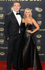 Sam Burgess and Phoebe Burgess arrive ahead of the 2017 Dally M Awards at The Star on September 27, 2017 in Sydney, Australia. Picture: Mark Metcalfe/Getty Images