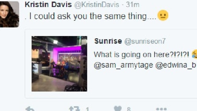 Kristin Davis took to Twitter to express her displeasure with the skit. Picture: Twitter