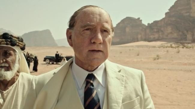 Spacey donned ageing makeup for his role in the film.