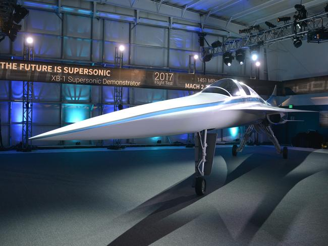 The XB-1 Supersonic Demonstrator. Picture: Tom Cooper/Getty Images for Boom Technology