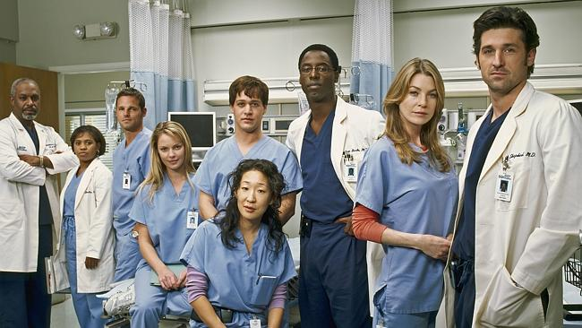 "The ""Grey's Anatomy"" cast in 2005."