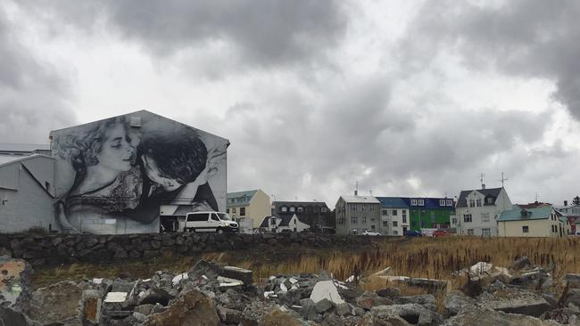 Amazing street art in downtown Reykjavik. Picture: Raffaella Ciccarelli