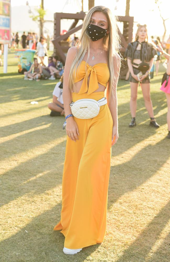 Protecting against SARS or the California desert dust? Picture: Presley Ann/Getty Images for Coachella