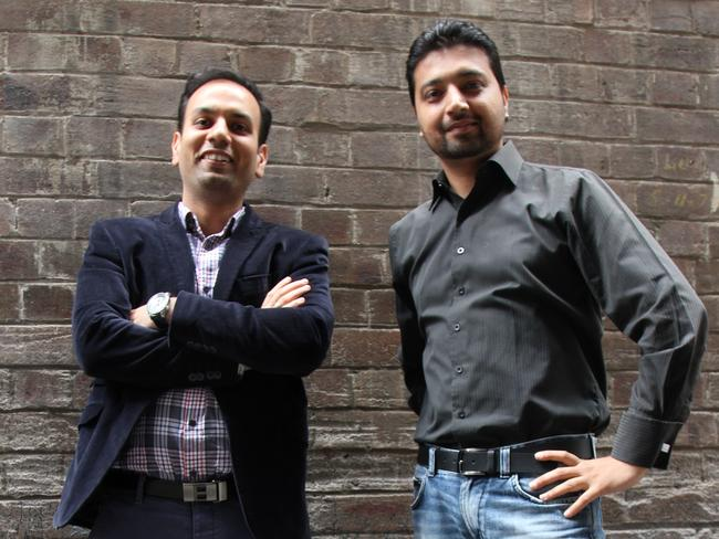 HashChing CEO and co-founder Mandeep Sodhi (left) with CTO and co-founder Atul Narang (right). Mr Sodhi says too many borrowers are unaware that they can get a better rate on their home loan.