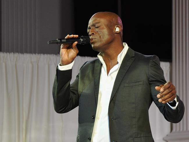Singer-songwriter Seal performs. Picture: John Sciulli/Getty Images