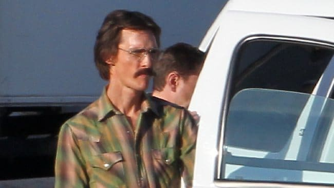 Matthew McConaughey dropped a ridiculous amount of weight for his role in Dallas Buyers Club. Picture: Splash