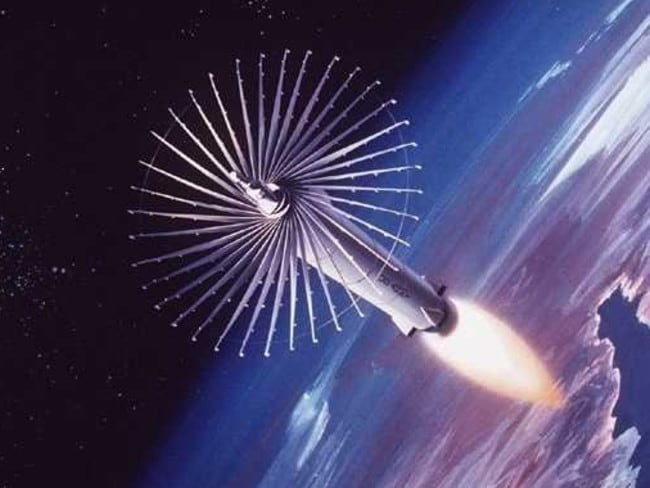 An artist's concept of an anti-satellite weapon used in space. Picture: Wikimedia Commons