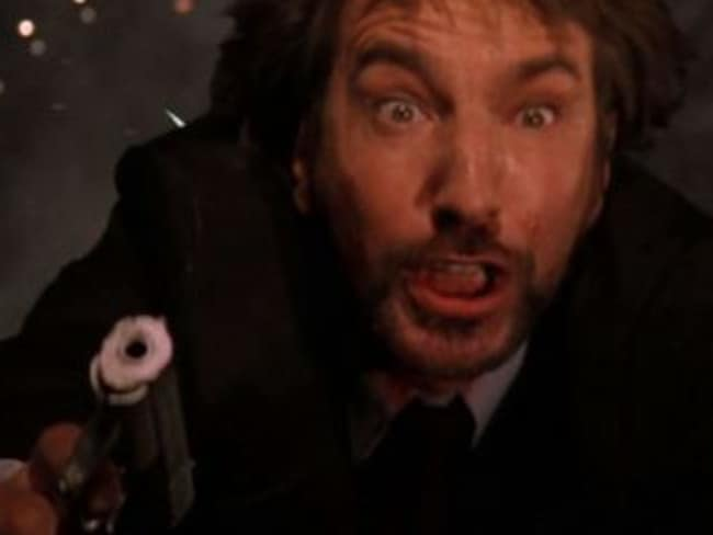 Infamous baddie ... Alan Rickman's villain in Die Hard is legendary.