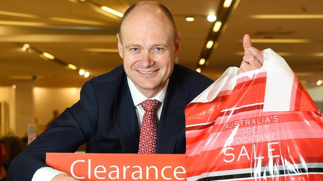 Myer chief Richard Umbers ahead of the December sales. Pic: Josie Hayden