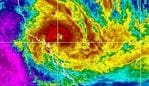 Satellite image showing Category 3 Cyclone, Debbie expected to hit North Queensland early Tuesday March 28, 2017. Source: Bureau of Meterology