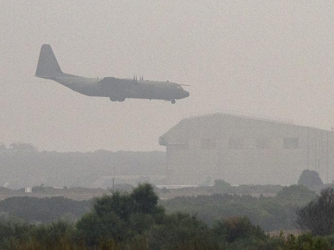 Humanitarian mission ... an RAF C-130 transport plane used for humanitarian aid drops in Iraq.