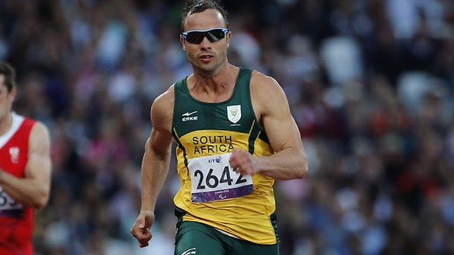 Oscar Pistorius competes at the 2012 Paralympics in London. File picture