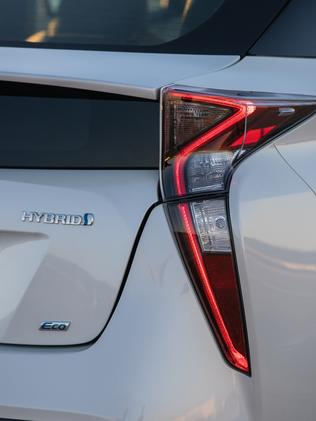 The new edition 2016 Toyota Prius with its distinctive rear tail light. Picture: Supplied
