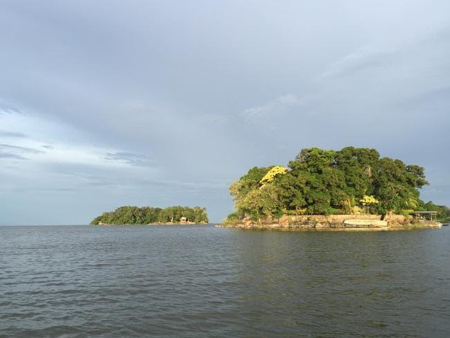 The stunning scene on Lake Nicaragua. Picture: Gary Burchett