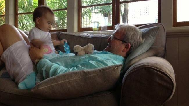 Kevin Rudd and baby Josephine
