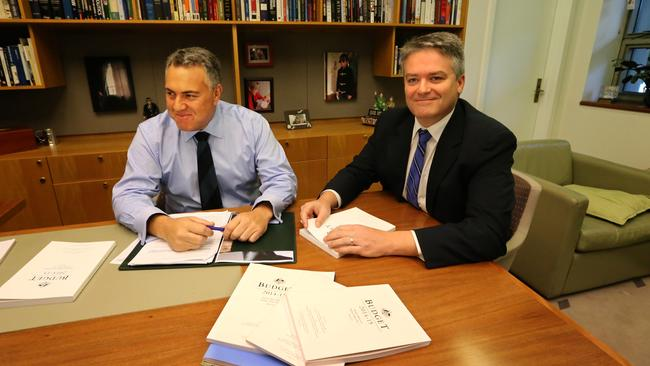 Treasurer Joe Hockey and Finance Minister Mathias Cormann. The Budget will get a reboot