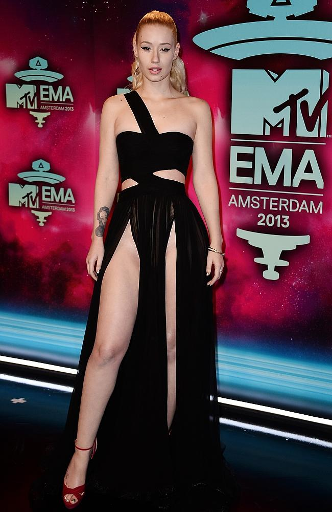 Iggy Azalea attends the MTV EMA's 2013 - and attracted international headlines in the process. Picture: Getty
