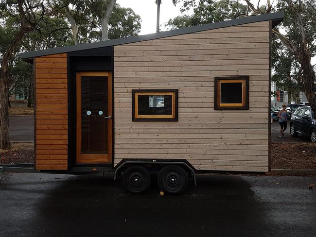 Julie Bray's tiny home promoted her decking business.