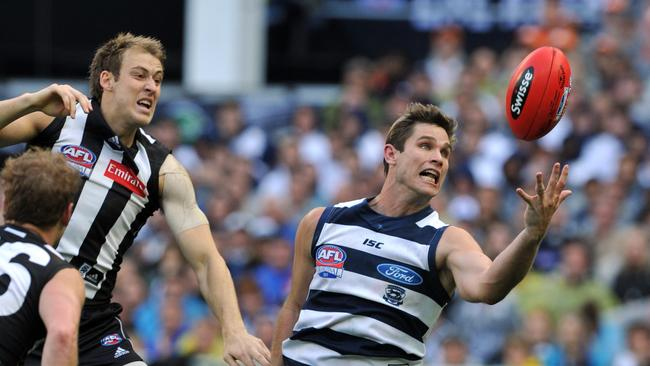 Tom Hawkins turned the 2011 Grand Final during the third quarter.