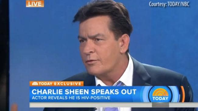Sheen revealed his HIV status during an interview with Matt Lauer on the Today show last November. Picture: Today